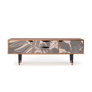 """Zayac TV Stand for TVs up to 70"""" Ebern Designs Pattern: Issabelline Flower"""