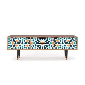 "Zayac TV Stand for TVs up to 70"" Ebern Designs Pattern: Kaleidoscope"