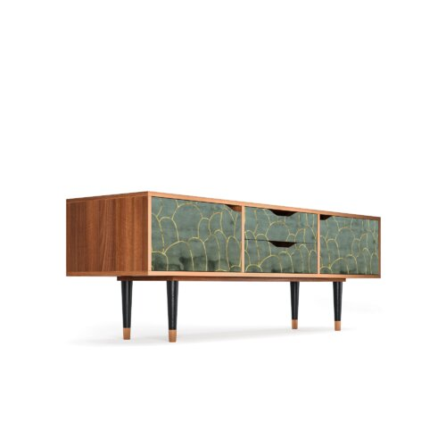 """Zayac TV Stand for TVs up to 70"""" Ebern Designs Pattern: Magnificent Water Lily"""