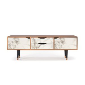 """Zayac TV Stand for TVs up to 70"""" Ebern Designs Pattern: Milk Marble"""