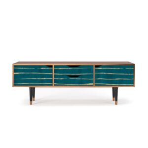 """Zayac TV Stand for TVs up to 70"""" Ebern Designs Pattern: Ocean Drive"""