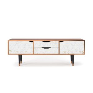 """Zayac TV Stand for TVs up to 70"""" Ebern Designs Pattern: Sweet Cotton"""