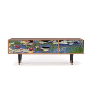 """Zayac TV Stand for TVs up to 70"""" Ebern Designs Pattern: The Water Lily Pond"""