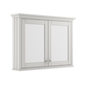 105cm x 75cm Surface Mount Mirror Cabinet Old London Finish: Timeless Sand