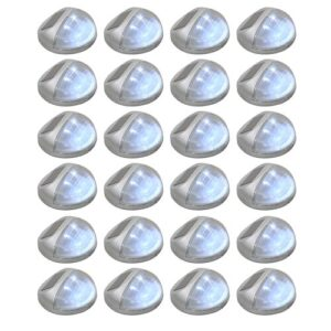 Abercorn 24 Piece Set LED Decorative and Accent Lights Sol 72 Outdoor Fixture Finish: Silver