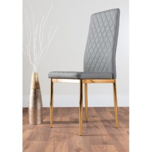 Absolon Upholstered Dining Chair Metro Lane Upholstery Colour: Gold Grey
