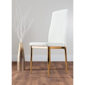 Absolon Upholstered Dining Chair Metro Lane Upholstery Colour: Gold White