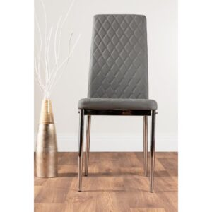 Absolon Upholstered Dining Chair Metro Lane Upholstery Colour: Grey