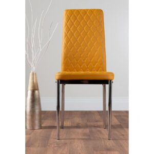 Absolon Upholstered Dining Chair Metro Lane Upholstery Colour: Mustard