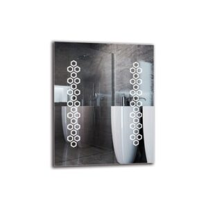 Agathe Bathroom Mirror Metro Lane Size: 50cm H x 40cm W