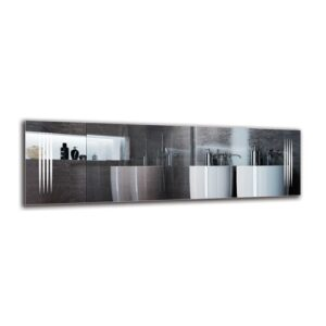 Alwigh Bathroom Mirror Metro Lane Size: 40cm H x 130cm W