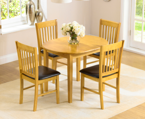 Amalfi Oak 107cm Extending Dining Table and Chairs