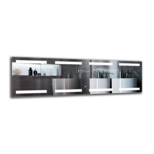 Arlogh Bathroom Mirror Metro Lane Size: 40cm H x 130cm W