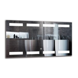 Arlogh Bathroom Mirror Metro Lane Size: 40cm H x 70cm W