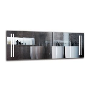 Asheville Bathroom Mirror Metro Lane Size: 50cm H x 130cm W
