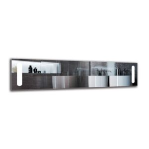 Aswar Bathroom Mirror Metro Lane Size: 40cm H x 160cm W