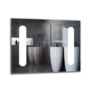 Aswar Bathroom Mirror Metro Lane Size: 40cm H x 50cm W