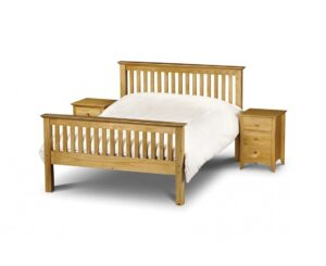 Basel High Foot End Solid Pine Double Bed