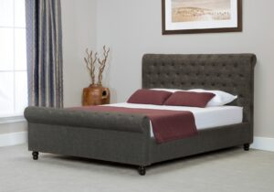 Bicester Grey Fabric Super King Size Bed