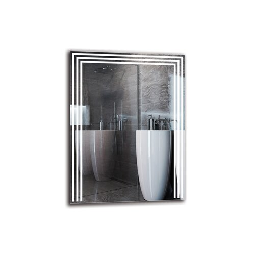 Boel Bathroom Mirror Metro Lane Size: 80cm H x 60cm W