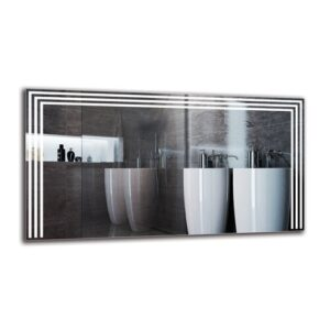 Boeld Bathroom Mirror Metro Lane Size: 60cm H x 110cm W
