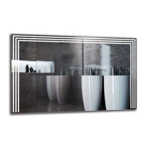 Boeld Bathroom Mirror Metro Lane Size: 70cm H x 110cm W
