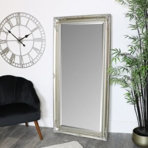 Carmelo Full Length Mirror Marlow Home Co. Finish: Champagne
