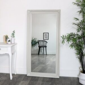 Carmelo Full Length Mirror Marlow Home Co. Finish: White