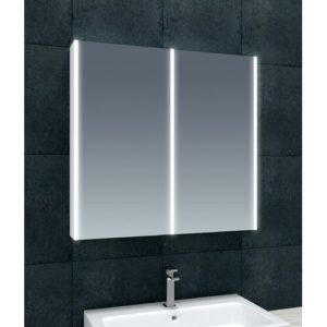 Chou 80cm x 70cm Surface Mounted Mirror Cabinet with LED Lightning Belfry Bathroom