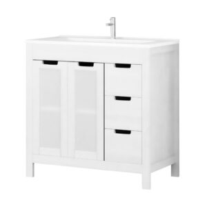 Cowal 2 Piece 80cm Bathroom Furniture Suite with 3 Drawer Latitude Run