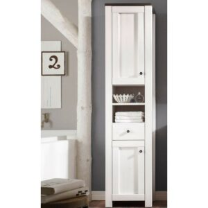 Cy 43 x 190cm Free-Standing Tall Bathroom Cabinet Brambly Cottage