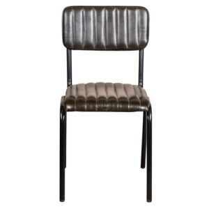 Deangelis Genuine Leather Upholstered Dining Chair Williston Forge Upholstery Colour: Green