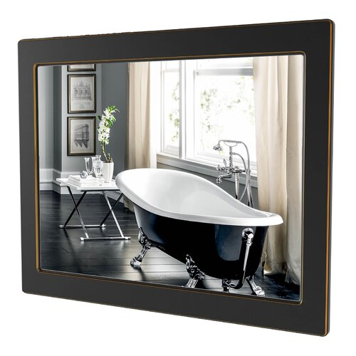Delilah Bathroom Mirror ClassicLiving Finish: Black/Gold
