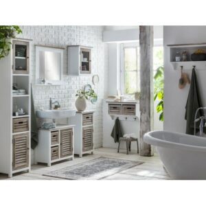 Despres 670mm Bathroom Furniture Suite with Mirror Beachcrest Home