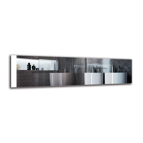 Dorthe Bathroom Mirror Metro Lane Size: 40cm H x 150cm W