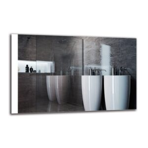 Dorthe Bathroom Mirror Metro Lane Size: 70cm H x 110cm W