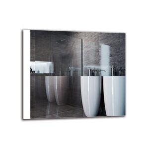 Dorthe Bathroom Mirror Metro Lane Size: 70cm H x 80cm W