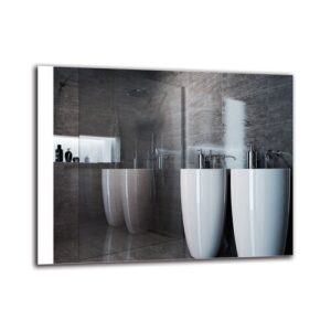 Dorthe Bathroom Mirror Metro Lane Size: 70cm H x 90cm W