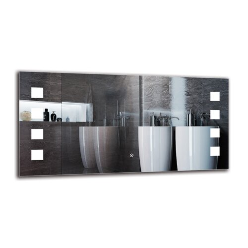 Ellaria Bathroom Mirror Metro Lane Size: 50cm H x 100cm W
