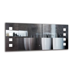 Ellaria Bathroom Mirror Metro Lane Size: 50cm H x 110cm W