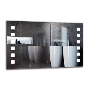 Ellaria Bathroom Mirror Metro Lane Size: 70cm H x 110cm W