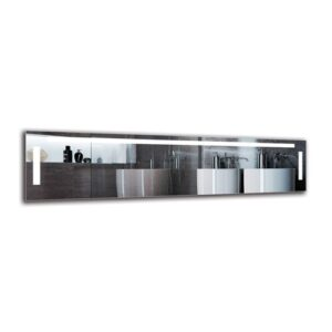 Ellesef Bathroom Mirror Metro Lane Size: 40cm H x 160cm W