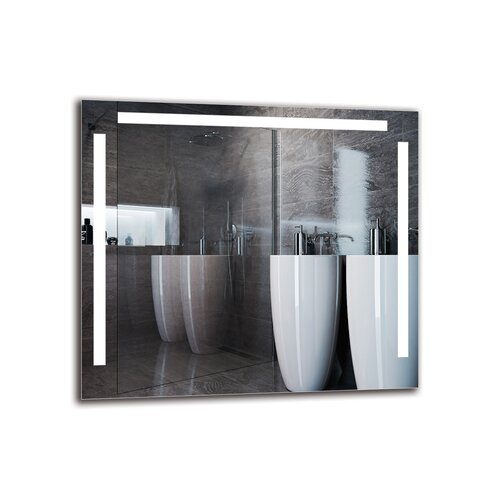 Ellesef Bathroom Mirror Metro Lane Size: 80cm H x 90cm W