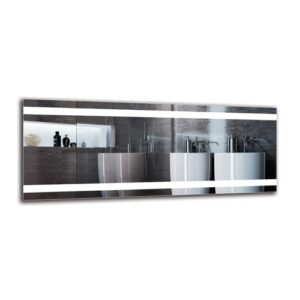 Esgerth Bathroom Mirror Metro Lane Size: 40cm H x 100cm W