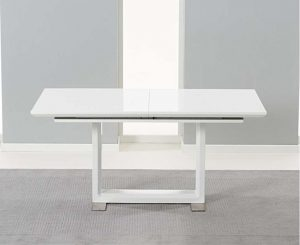 Ex-display Bianco 160cm White High Gloss Extending Dining Table