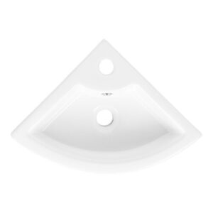 Forkland Ceramic Specialty 330 mm Corner Basin Belfry Bathroom