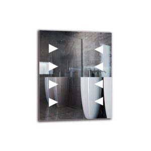 Frogerth Bathroom Mirror Metro Lane Size: 50cm H x 40cm W