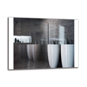 Frogertha Bathroom Mirror Metro Lane Size: 60cm H x 80cm W