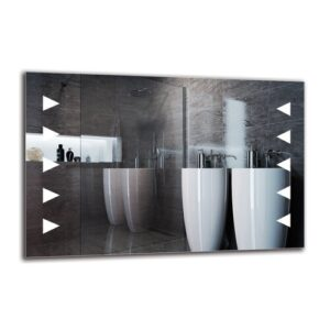 Gera Bathroom Mirror Metro Lane Size: 60cm H x 90cm W