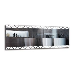 Gerd Bathroom Mirror Metro Lane Size: 50cm H x 130cm W